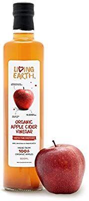 Living Earth - Vinaigre de cidre de pomme organique, 500ml