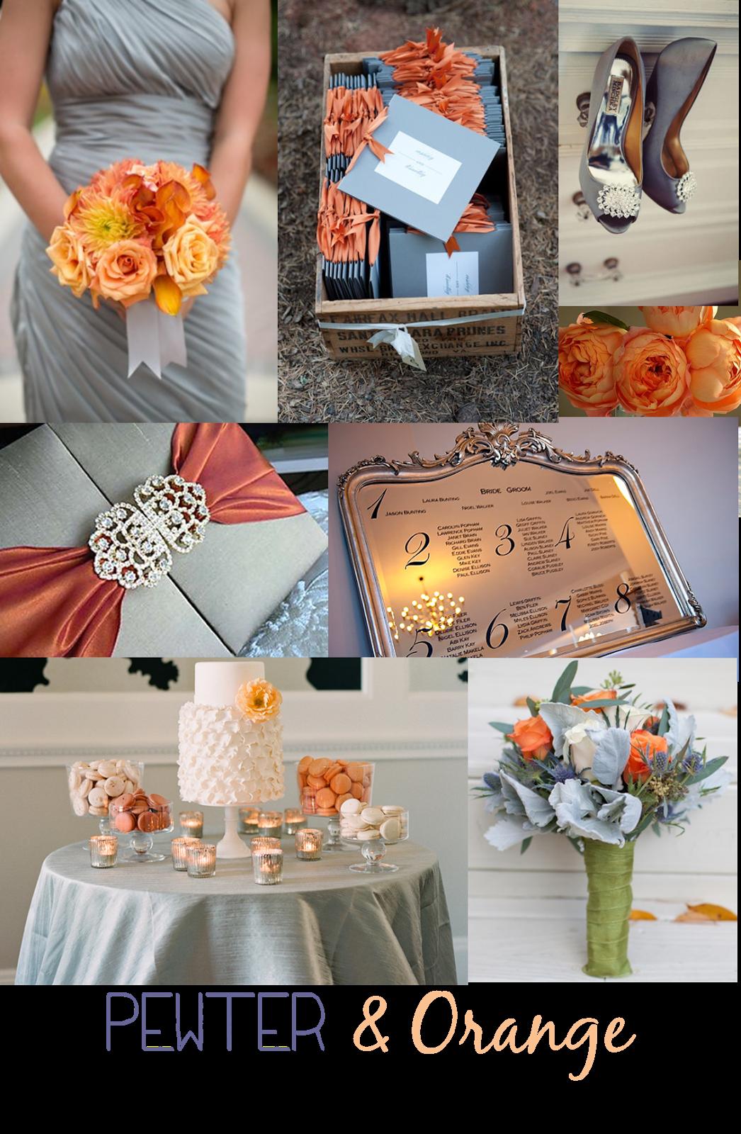 Pewter Orange Wedding Inspiration Orange Wedding Fall Wedding Wedding Inspiration
