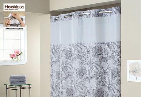 Sure Fit Hookless Plain Weave Floral Shower Curtains Floral