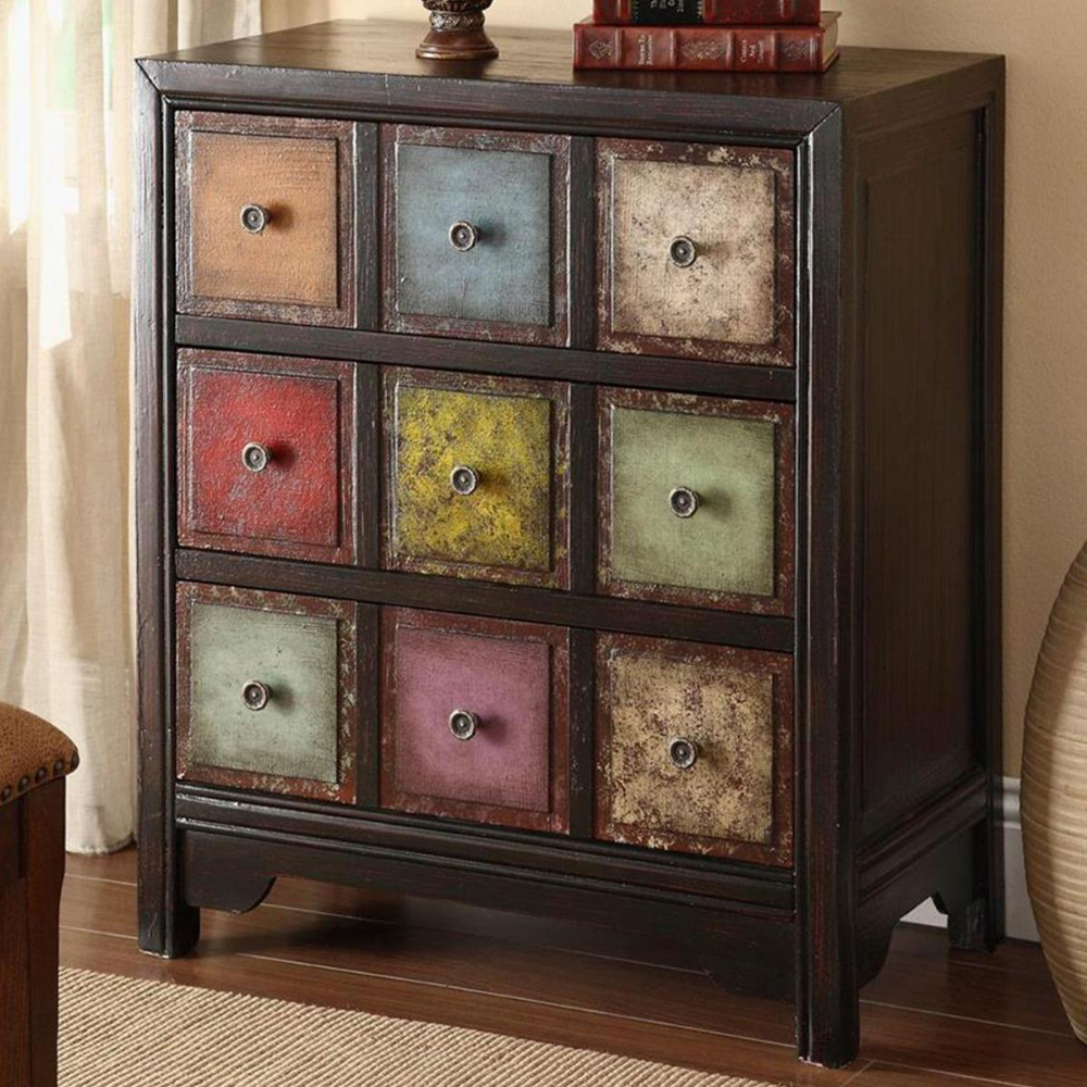 Shell Island Furniture 20 Drawer Chest in Weathered Multicolor ...
