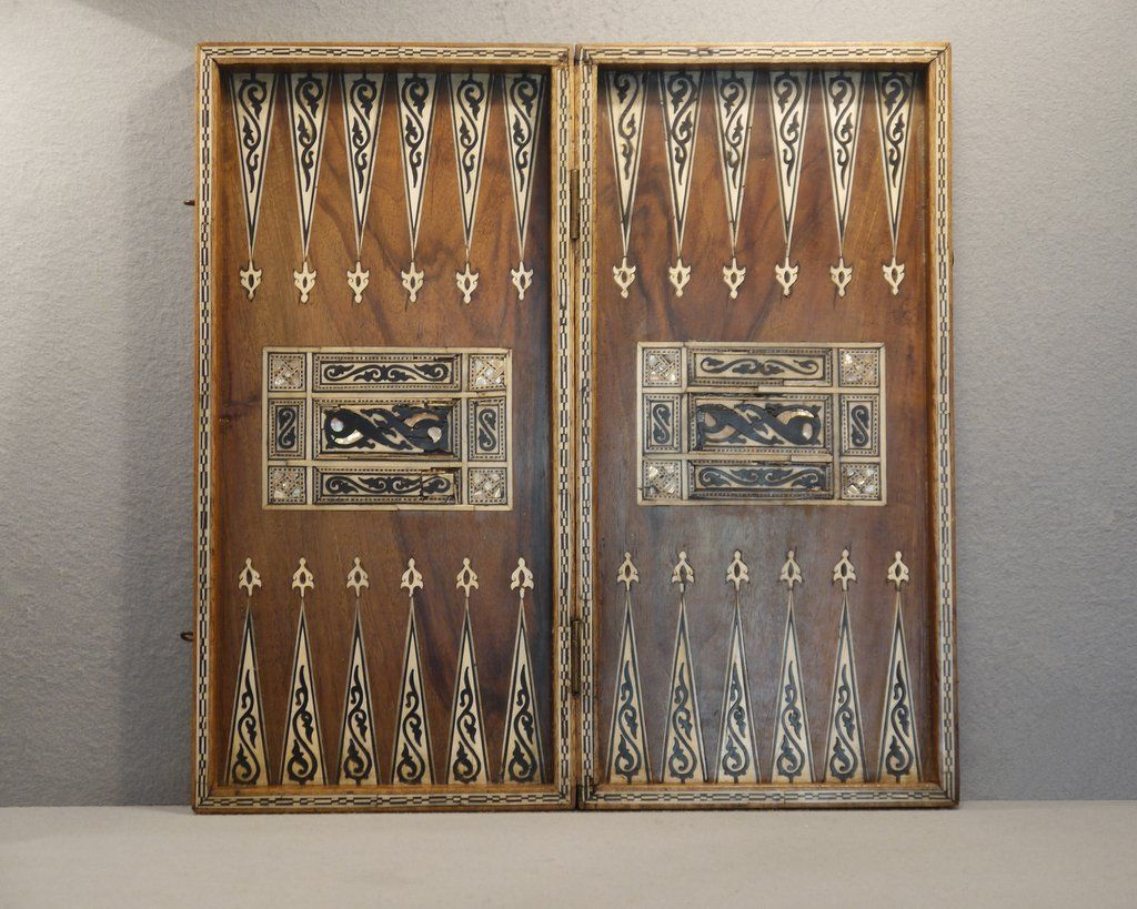 Awesome Antique Turkish Chess U0026 Backgammon Board