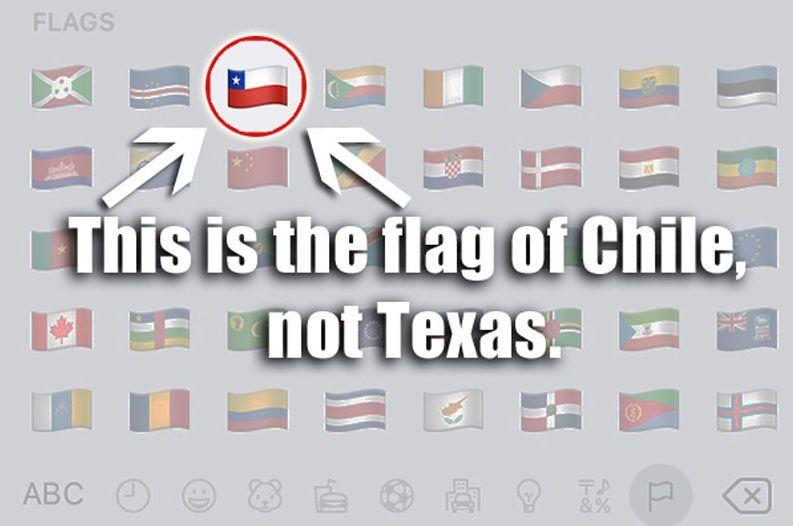 Stop Using Chilean Flag Emoji Says Texas Lawmaker Chilean Flag Flag Emoji Texas