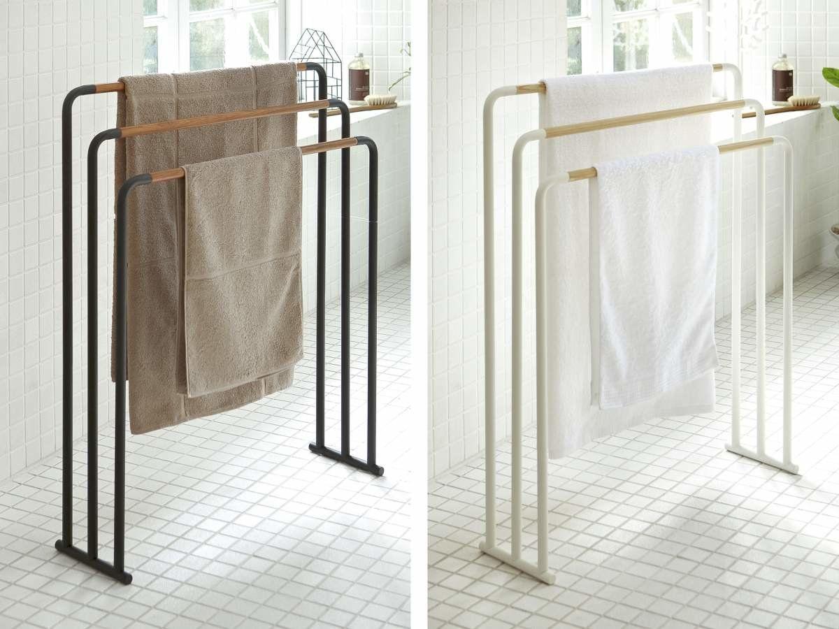 Yamazaki Home Handtuchhalter Freistehend 3 Stangen 89 00 Handtuchhalter Halte Durch Handtuchstander