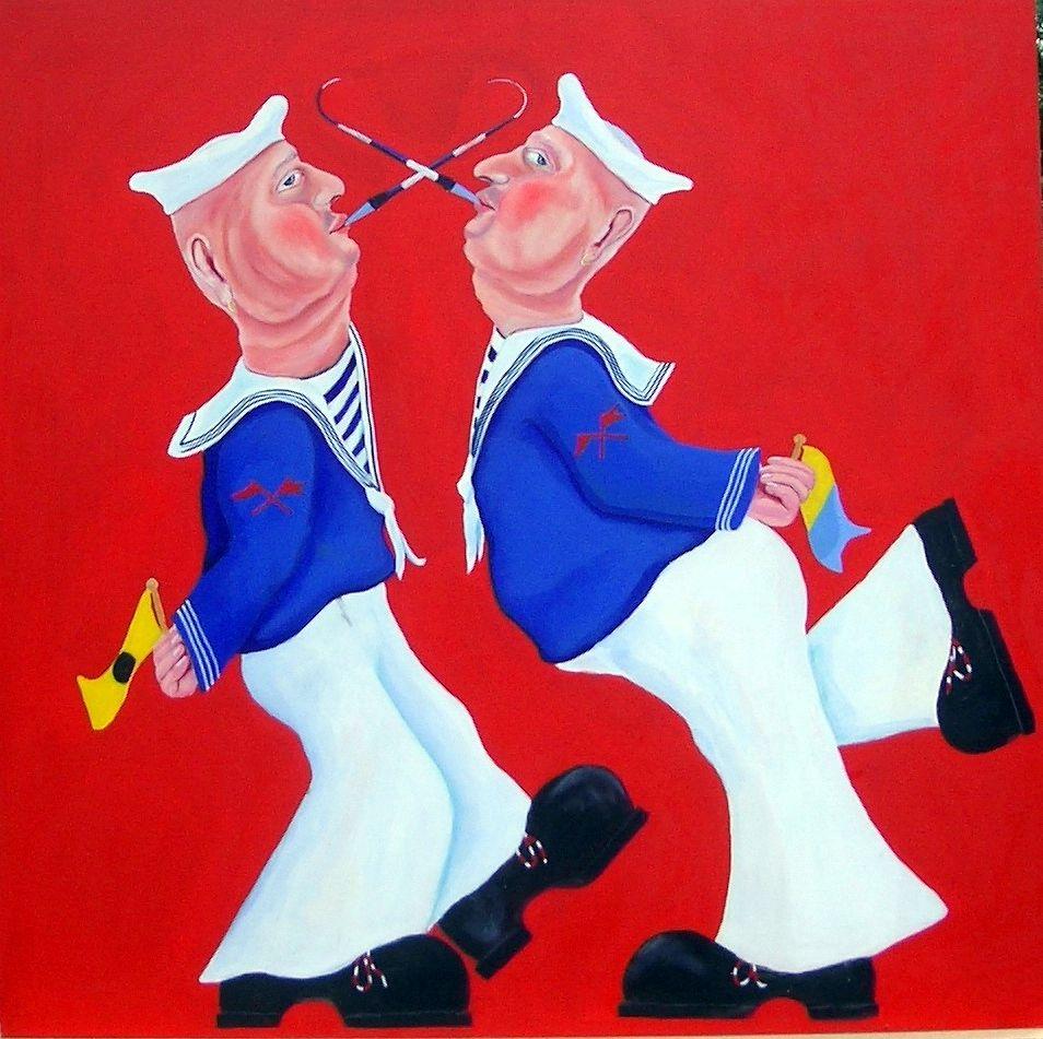 Rolfluiters -  - oil painting -  75x75 cm - ©Henk van Merkom- 2000