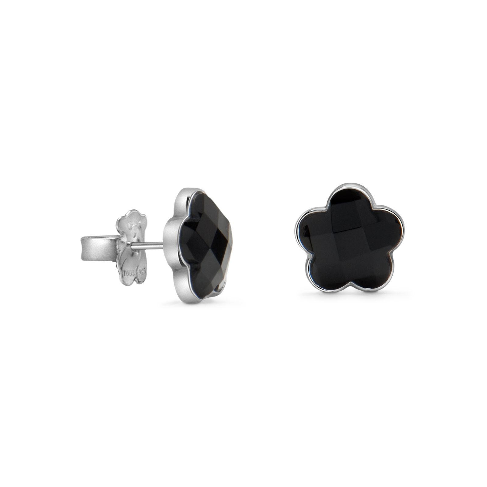Sterling silver TOUS Color earrings with faceted onyx.TOUS Washington DC