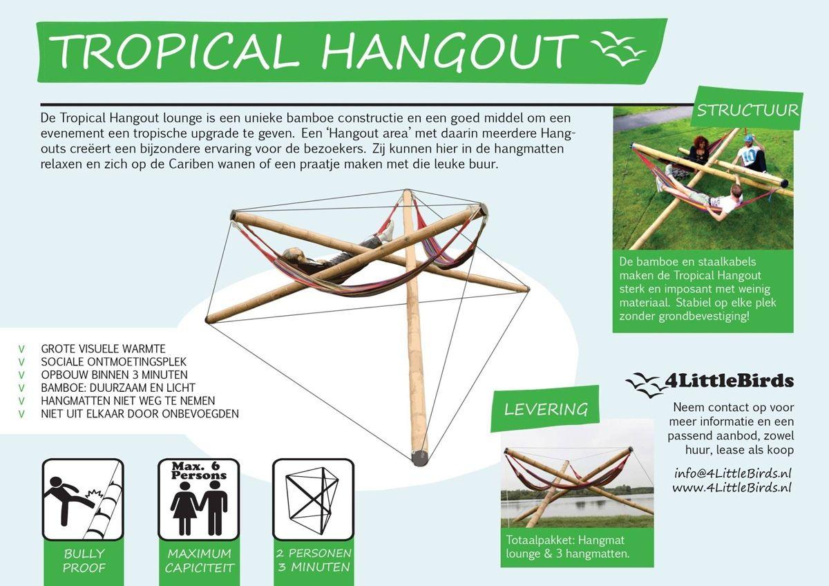 Hangmat Standaard 2 Persoons.Bamboe Hangmat Standaard Voor Festivals En Evenementen Bamboo