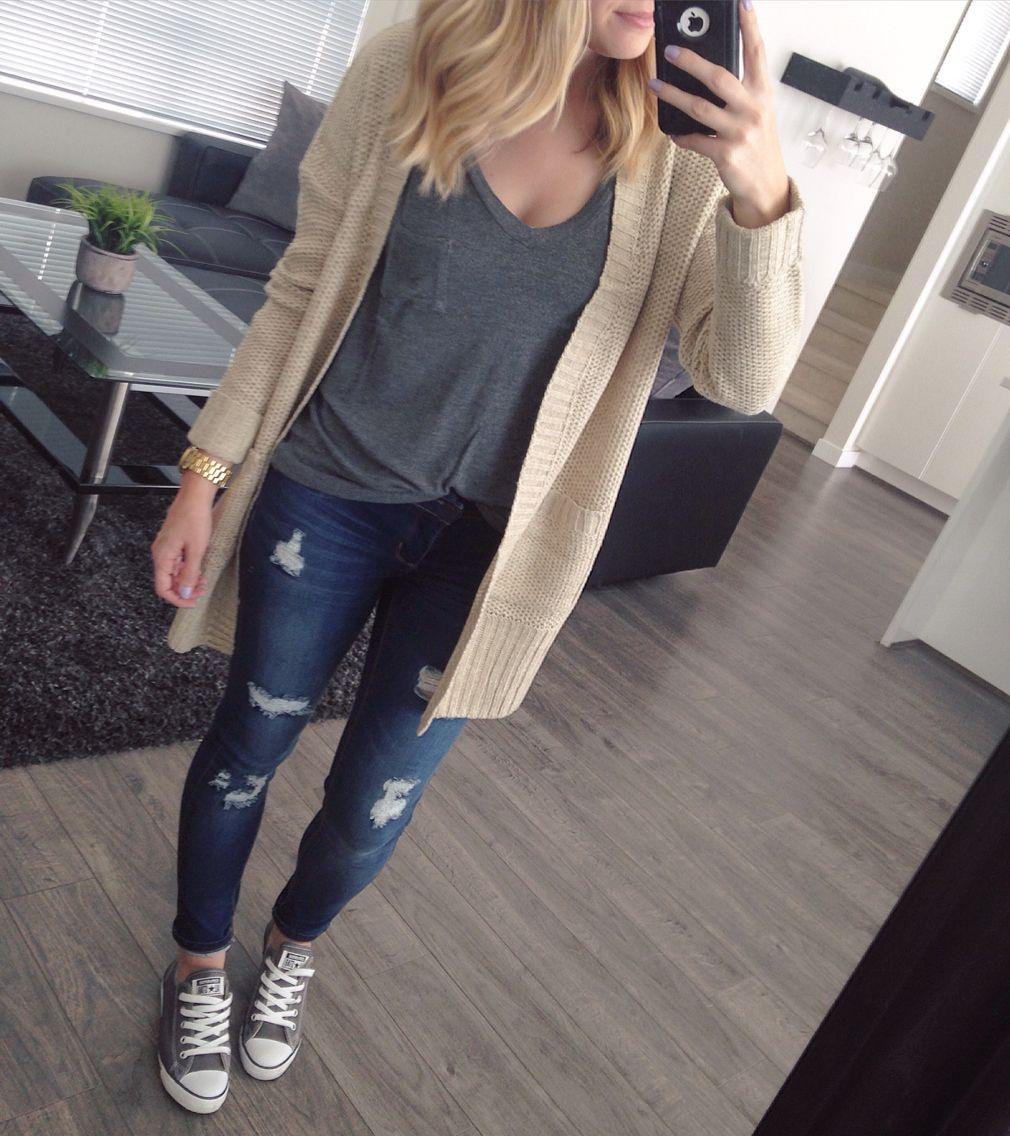Converse Outfit Idea Converse Style Grey Converse Outfit Outfits With Converse Weekend Outfit