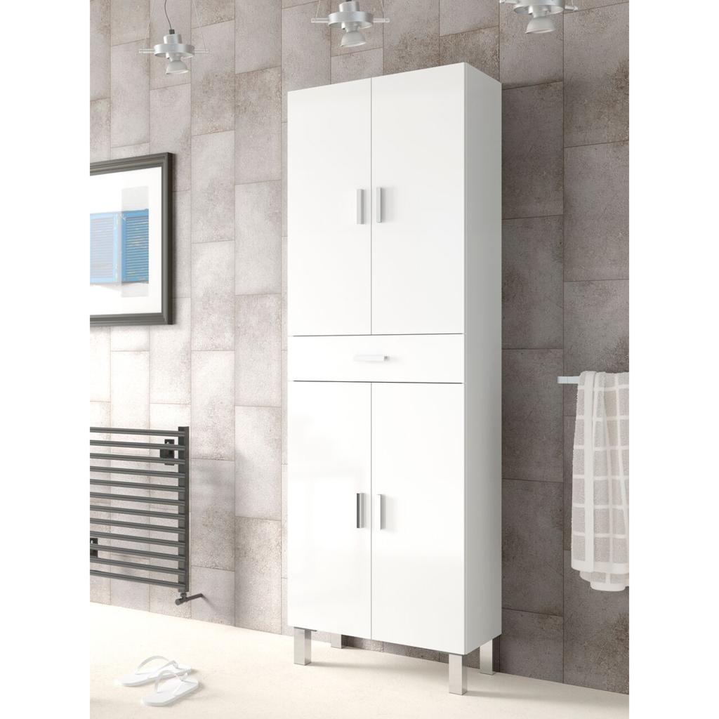 37++ Bathroom storage cabinets white gloss custom
