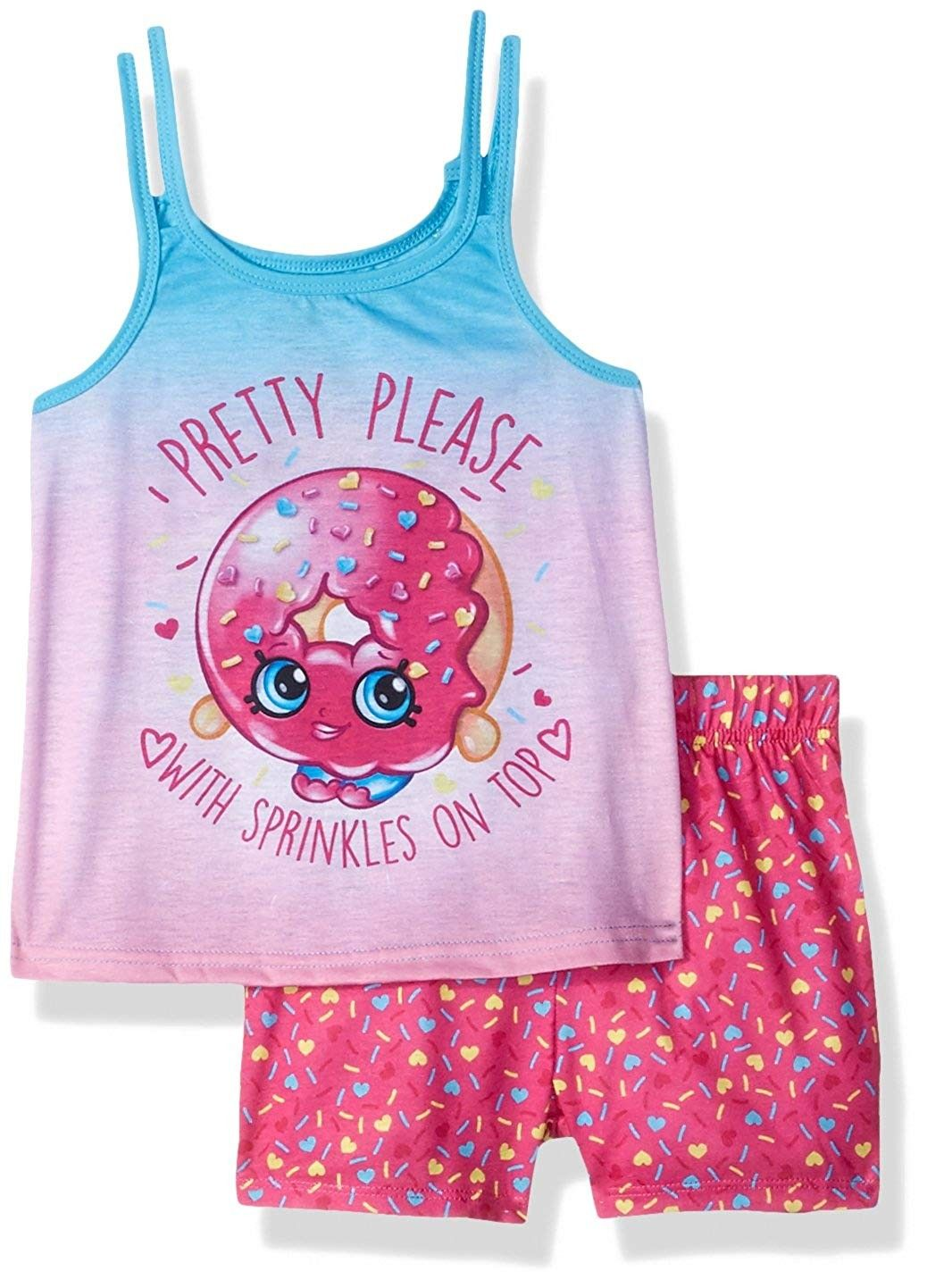 Girls' Shopkins Pretty Please Pajama Tank Top Set Pink