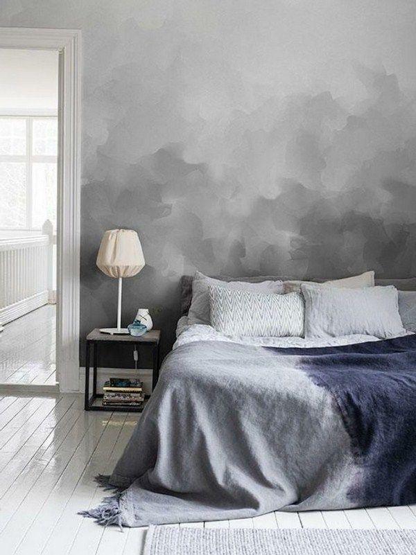 creative wall design like gray smoke