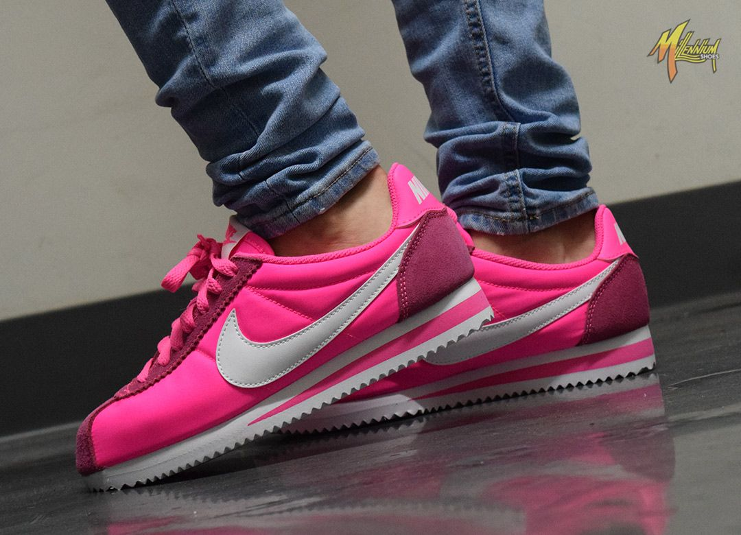 Brighten up your day with these Nike Women's Classic Cortez Nylon in 'Pink  Blast'