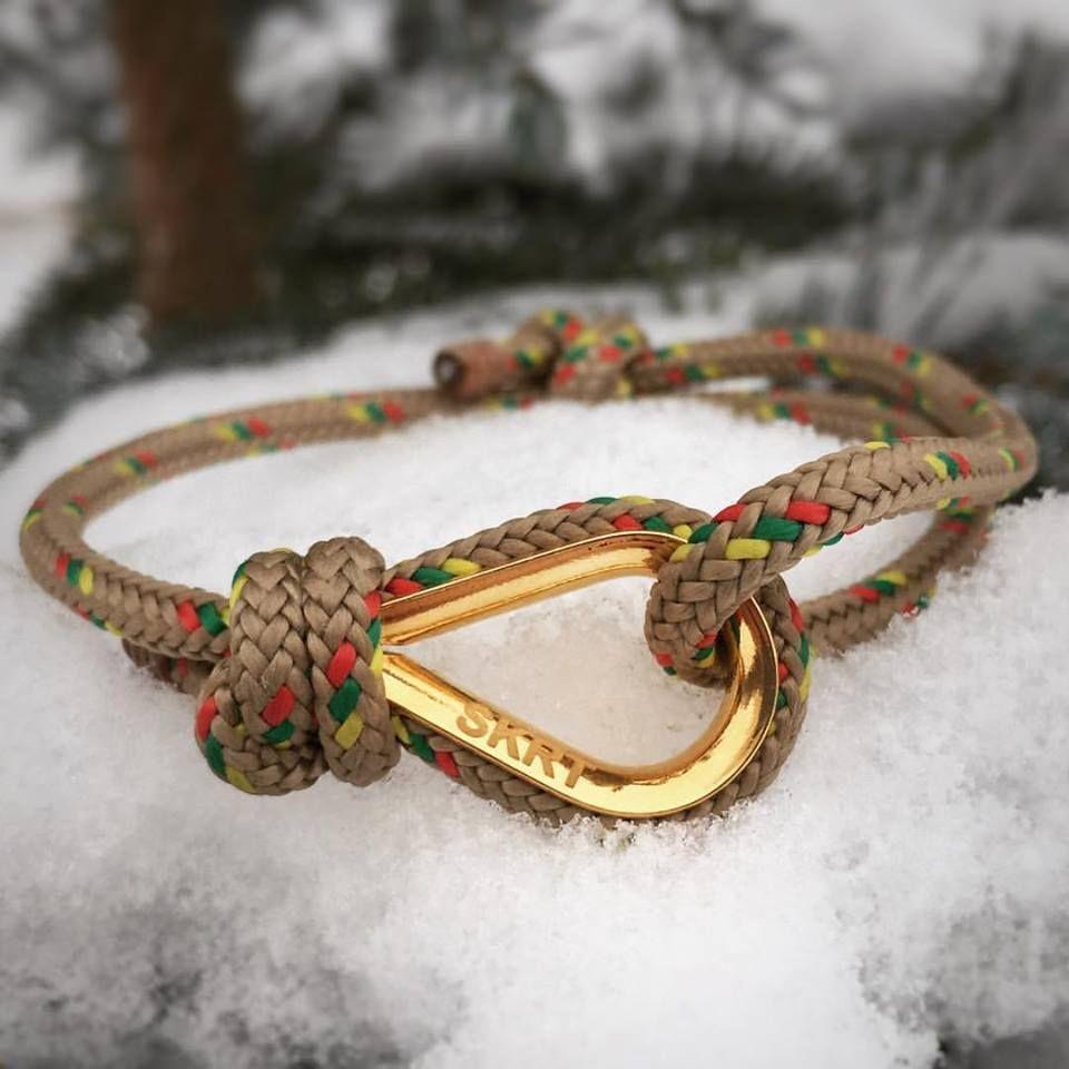 Beige handmade customized nautical sailing knot cord bracelet