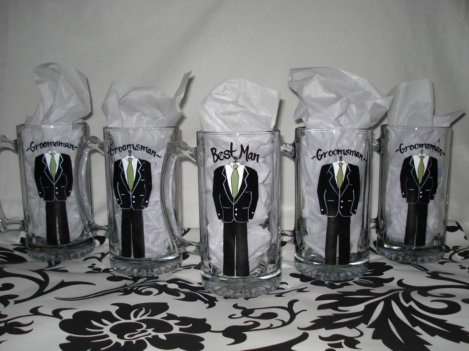 Hand Painted Personalized Beer Mugs