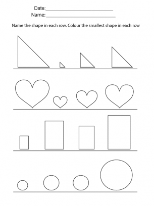 Smallest Objects Printable Worksheets. Give a like for #learning ...