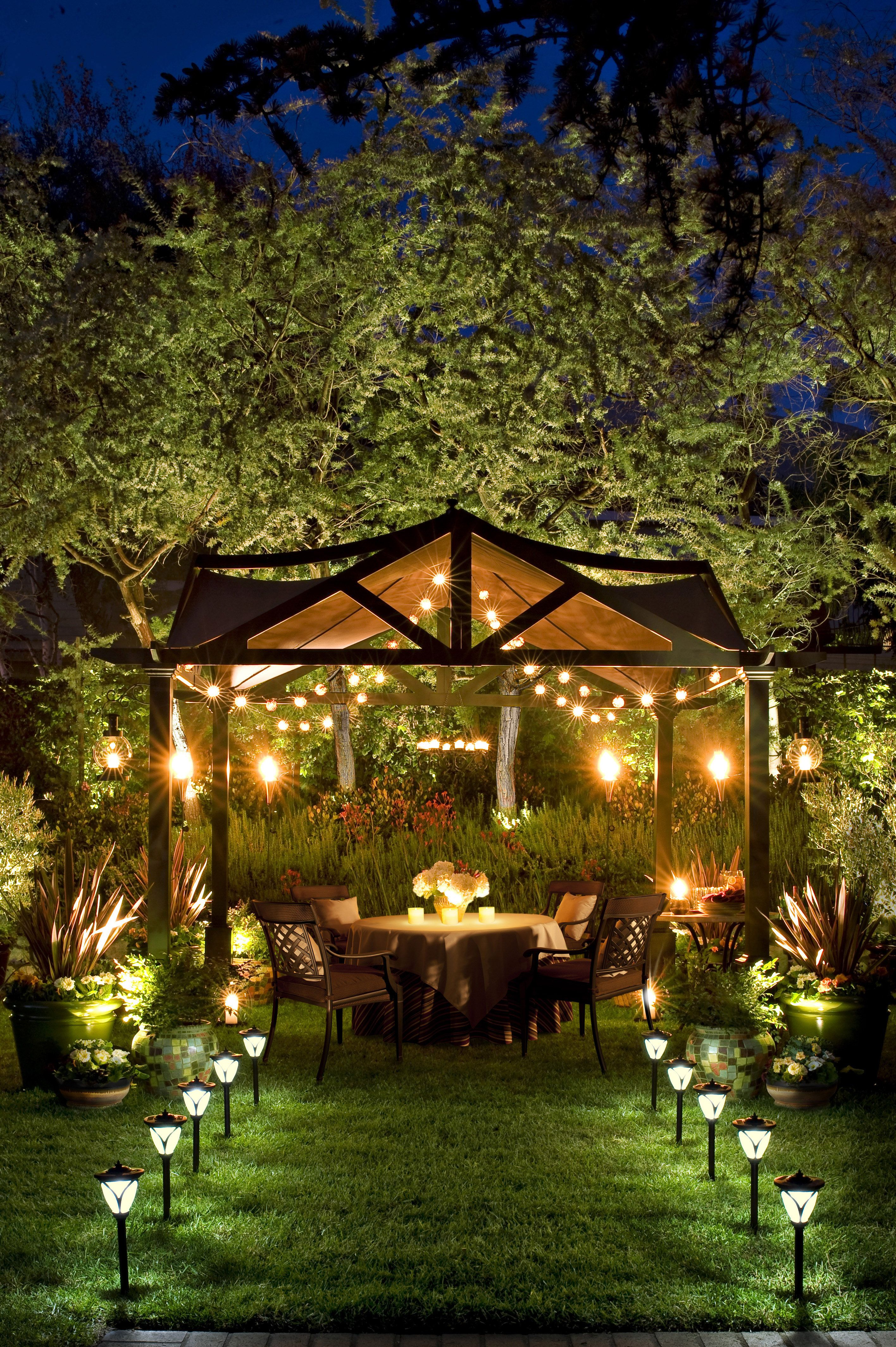 do it yourself outdoor lighting. Lights In Gazebo Enchanting. Needs Softer Lighting On Lawn Or No Lights. Hide With Your Hand And See For Yourself. Do It Yourself Outdoor L