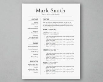 modern word resume template with blue sidebar resume