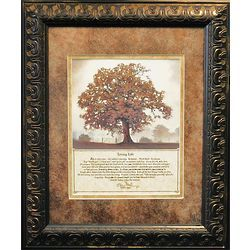 Merveilleux Living Life Framed Tree Print With Message
