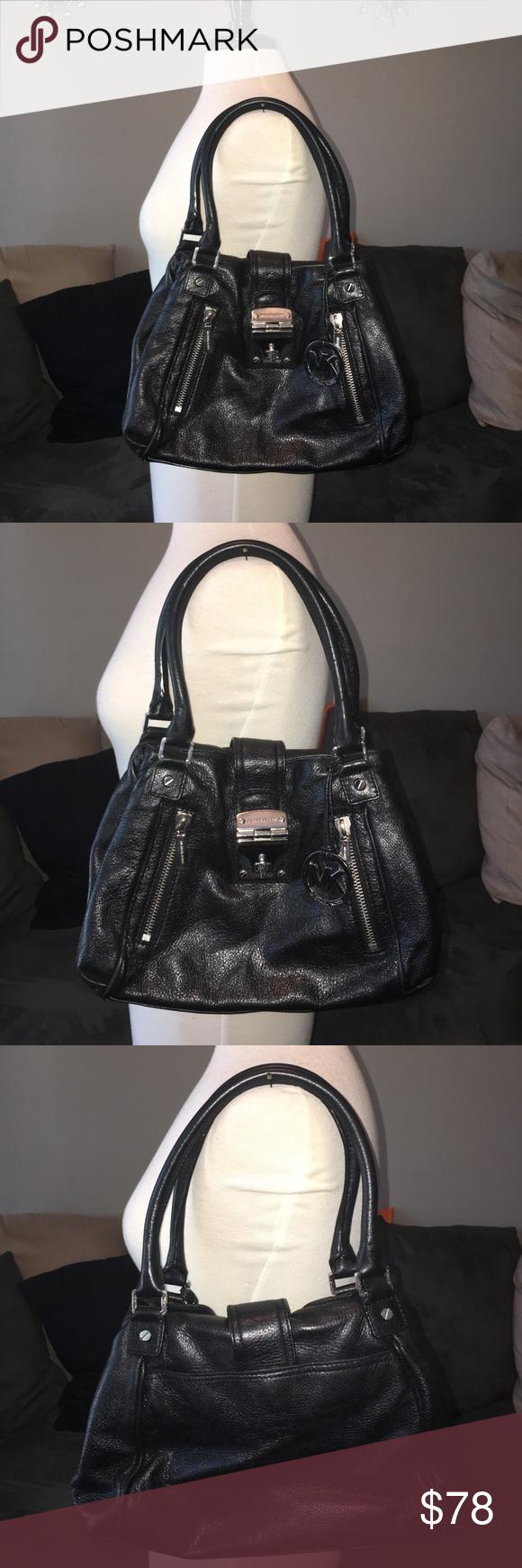 7e84ce6af874 Gorgeous and Real Michael Kors purse. Gorgeous and Real Michael Kors purse,  code AP-1106, genuine black leather, silver hardware, Black Monogram inside.