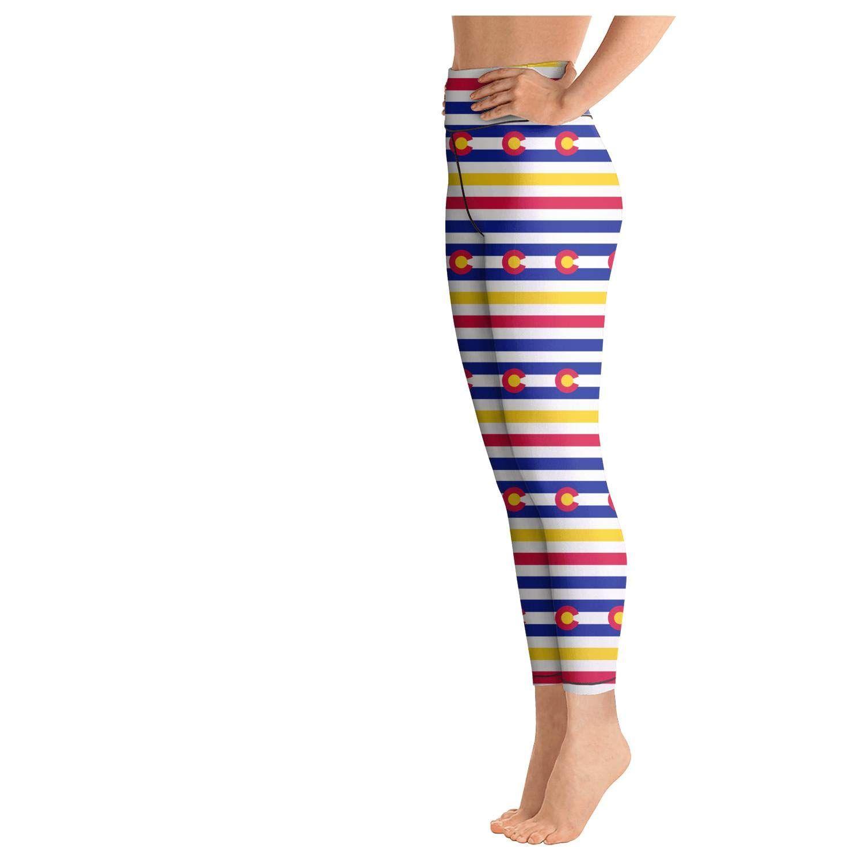 Womens Outfits Leggins Gay Pride Rainbow Flag Poster Yoga Pants Exercise Running Leggings