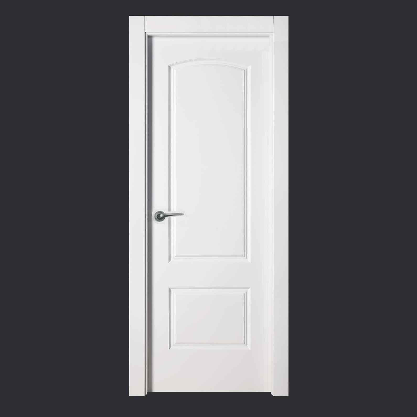Puerta lacada blanca maciza 5270 ev 6 remodelacion en for Lacar puertas en blanco