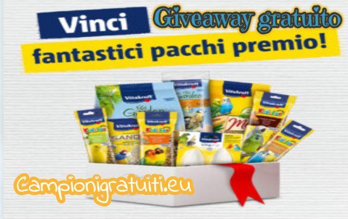 Giveaway Vitakraft vinci kit di prodotti per uccellini