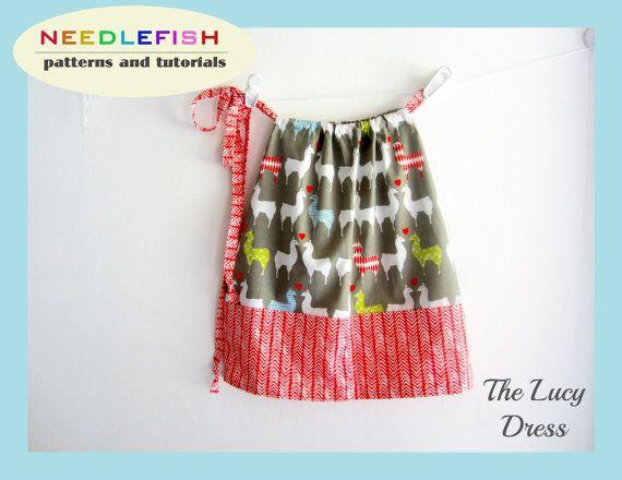 LUCY DRESS - Pillowcase Dress Pattern - sizes 6mo-9/10 - Girls Sewing & LUCY DRESS - Pillowcase Dress Pattern - sizes 6mo-9/10 - Girls ... pillowsntoast.com