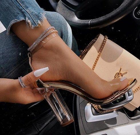 Details about  /Womens Fashion Round Toe Ankle Strap Pumps High Heels Platform Prom Shoes Size D