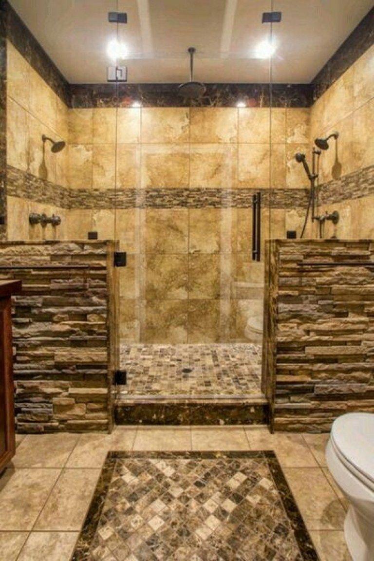 50 Best Rock Shower Ideas 41 In 2020 Rustic Bathroom Designs Bathroom Design Dream Bathrooms