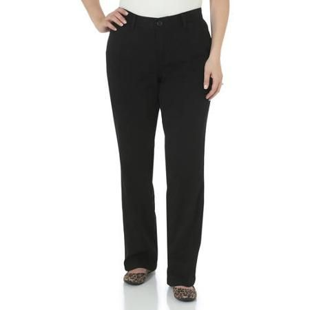 9350869e The Riders By Lee Women's Classic Straight Leg Stretch Woven Pants  Available in Regular, Petite, and Long Lengths - Walmart.com