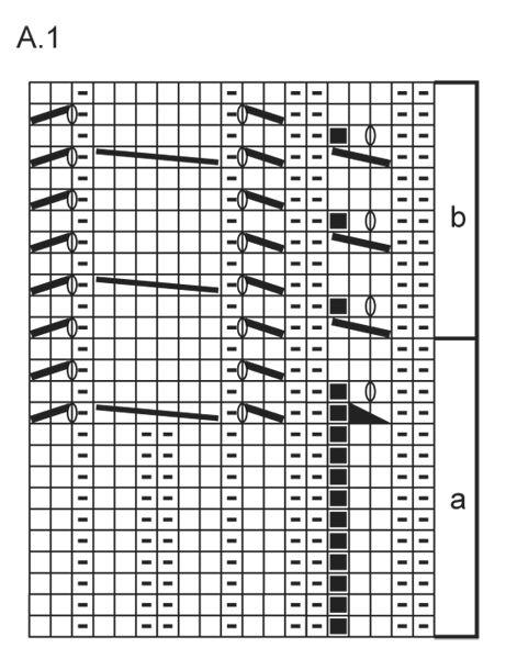 Palmikolliset DROPS pitsisukat Fabel-langasta. Koot 35 - 43. Ilmaiset ohjeet DROPS Designilta.