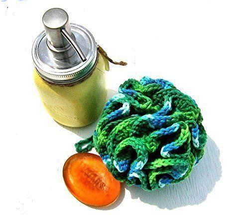 amazon bath pouf handmade shower loofah bath and