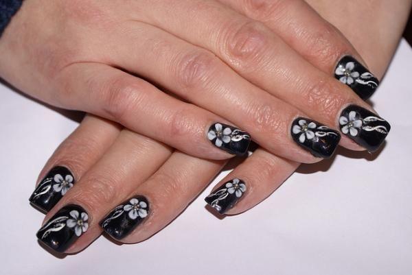 55 Black And White Nail Art Designs White Nail Art White Nails