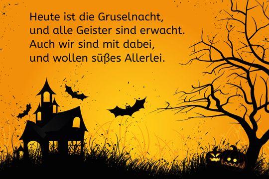 Halloween Spruch Englisch