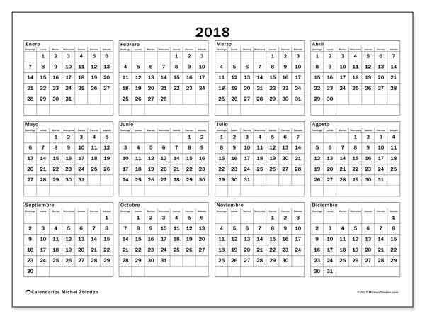 calendario 2018 argentina para imprimir