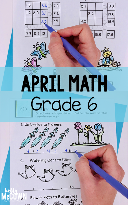 Spring Math Activities For 6th Grade Middle School Spring Math Activities Printable Worksheets Spring Math Middle School Math Middle School Math Lesson Plans