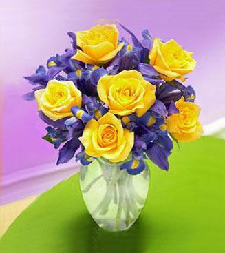 Iris yellow rose bouquet wedding planning pinterest flowers bouquet ideas iris yellow rose bouquet purple yellow yellow roses purple flowers mightylinksfo