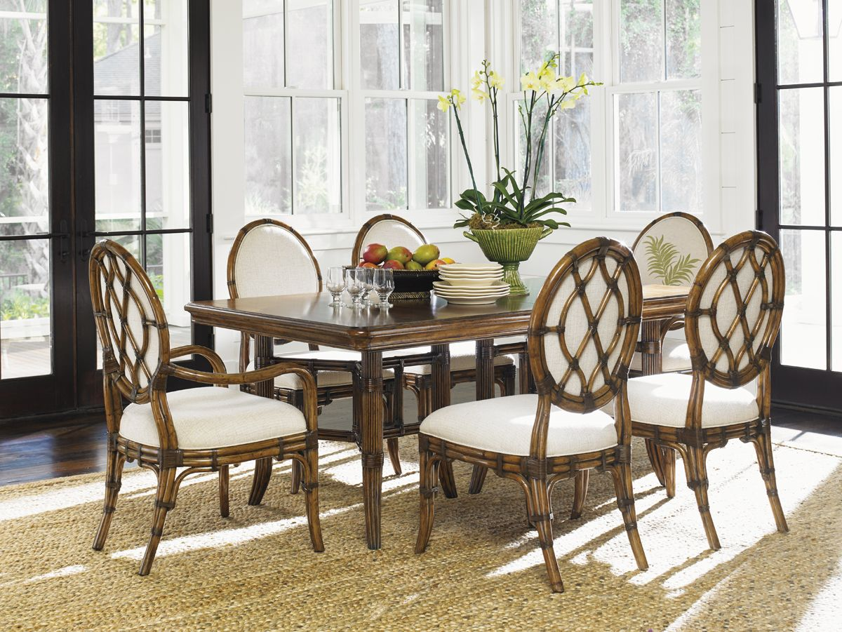 Attractive Tommy Bahama Bali Hai 7 Piece Fisher Island Rectangular Dining Set By Dining  Rooms Outlet Awesome Design