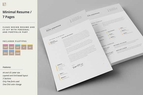 Resume  Cover Letter Template By Egotype On Creativemarket