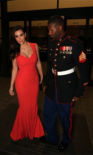 Kim Kardashian at a North Carolina Marine Corps Ball (Splash News)