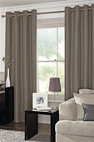 Buy Mink Textured Eyelet Curtains From The Next UK Online Shop
