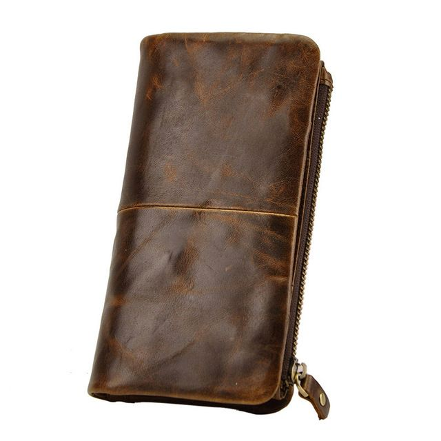 Check it on our site Vintage Crazy Horse/Oil wax Composite Genuine Leather Casual Organizer Wallet  Purse Zipper Money Card Coin Photo Pocket Bag just only $21.29 with free shipping worldwide  #walletsformen Plese click on picture to see our special price for you