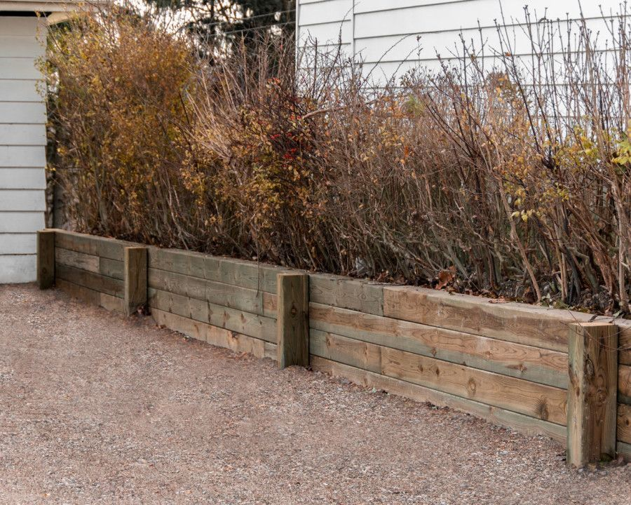 6x6 Pressure Treated Retaining Wall Retaining Wall