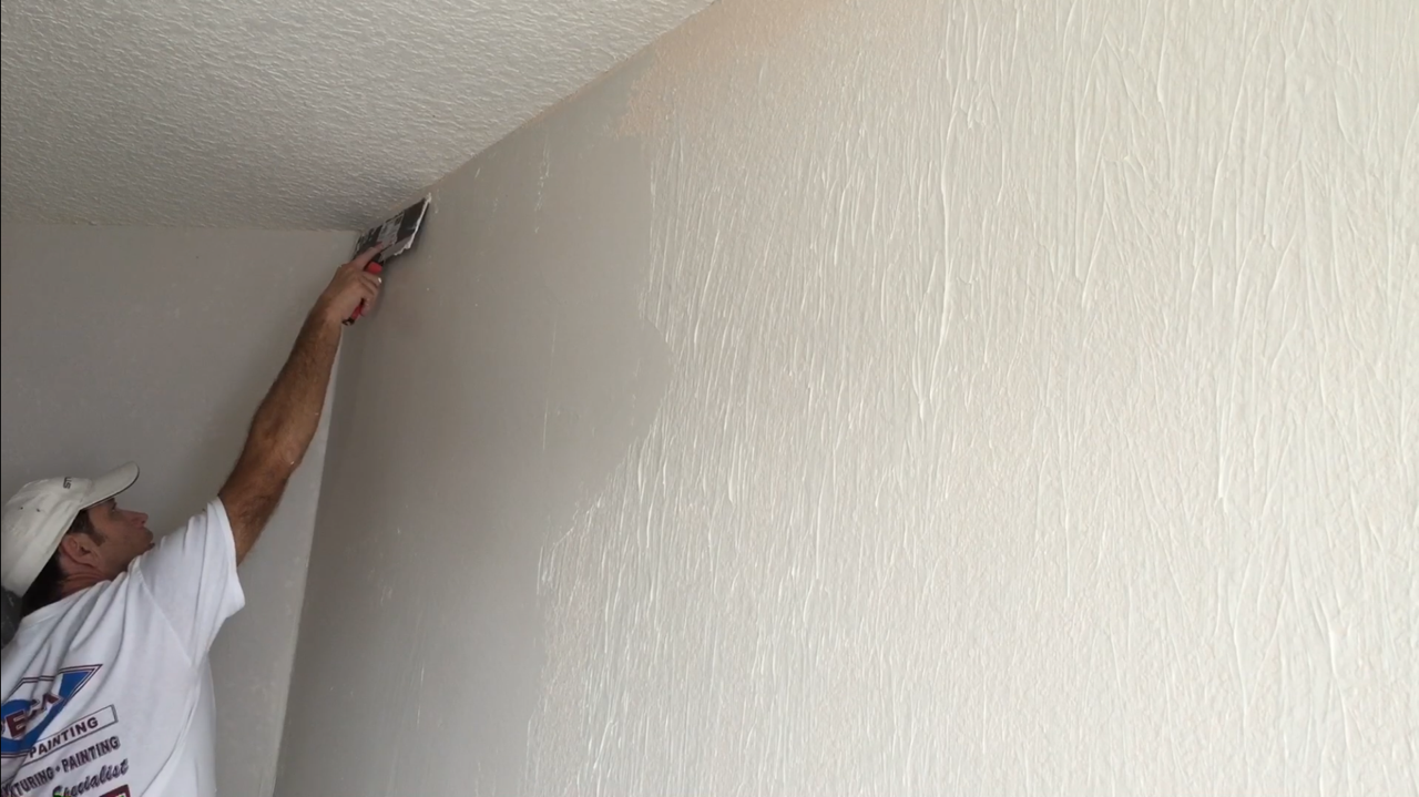 How to skim coat using the paint roller trick Removing