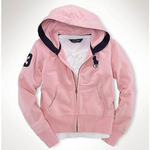 Polo Ralph Lauren Big Pony Fleece Hoodie Pink Outlet Online