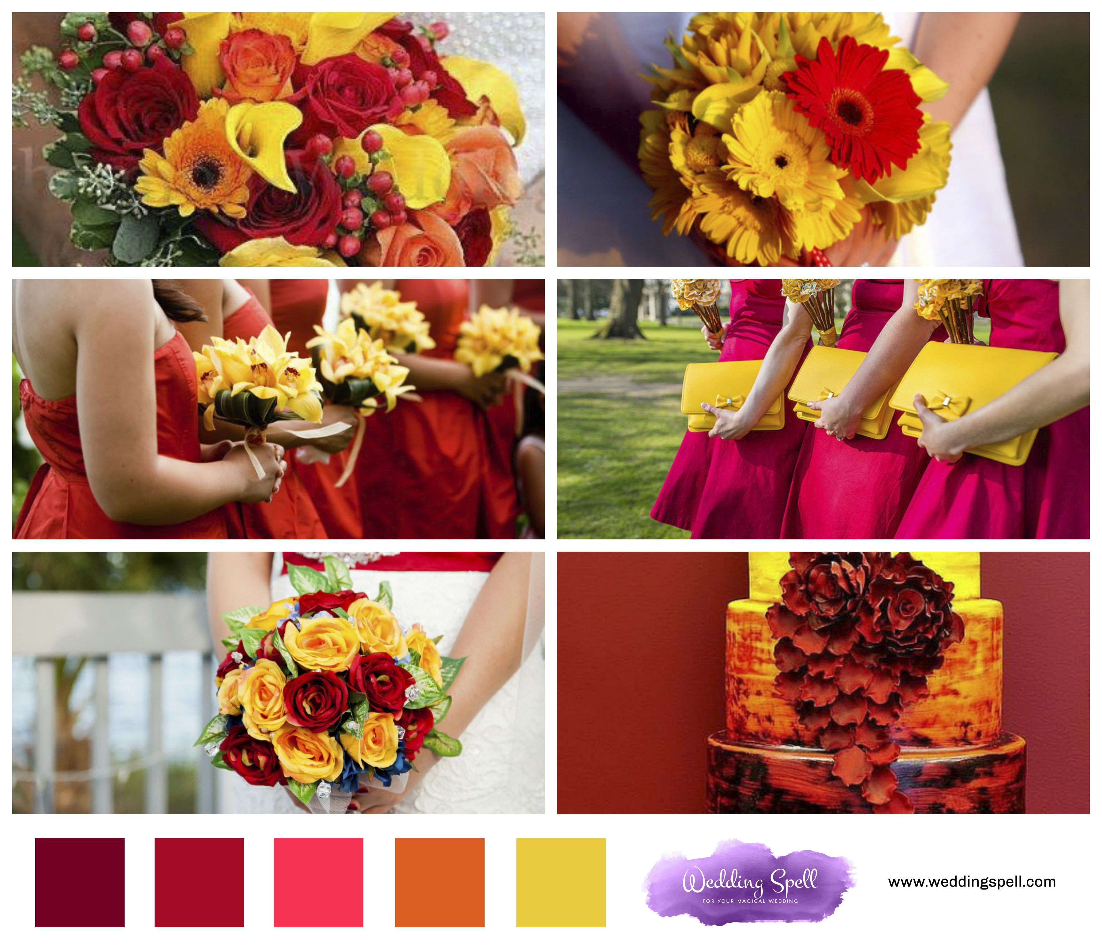 Stylish Fall Wedding Colors 2017