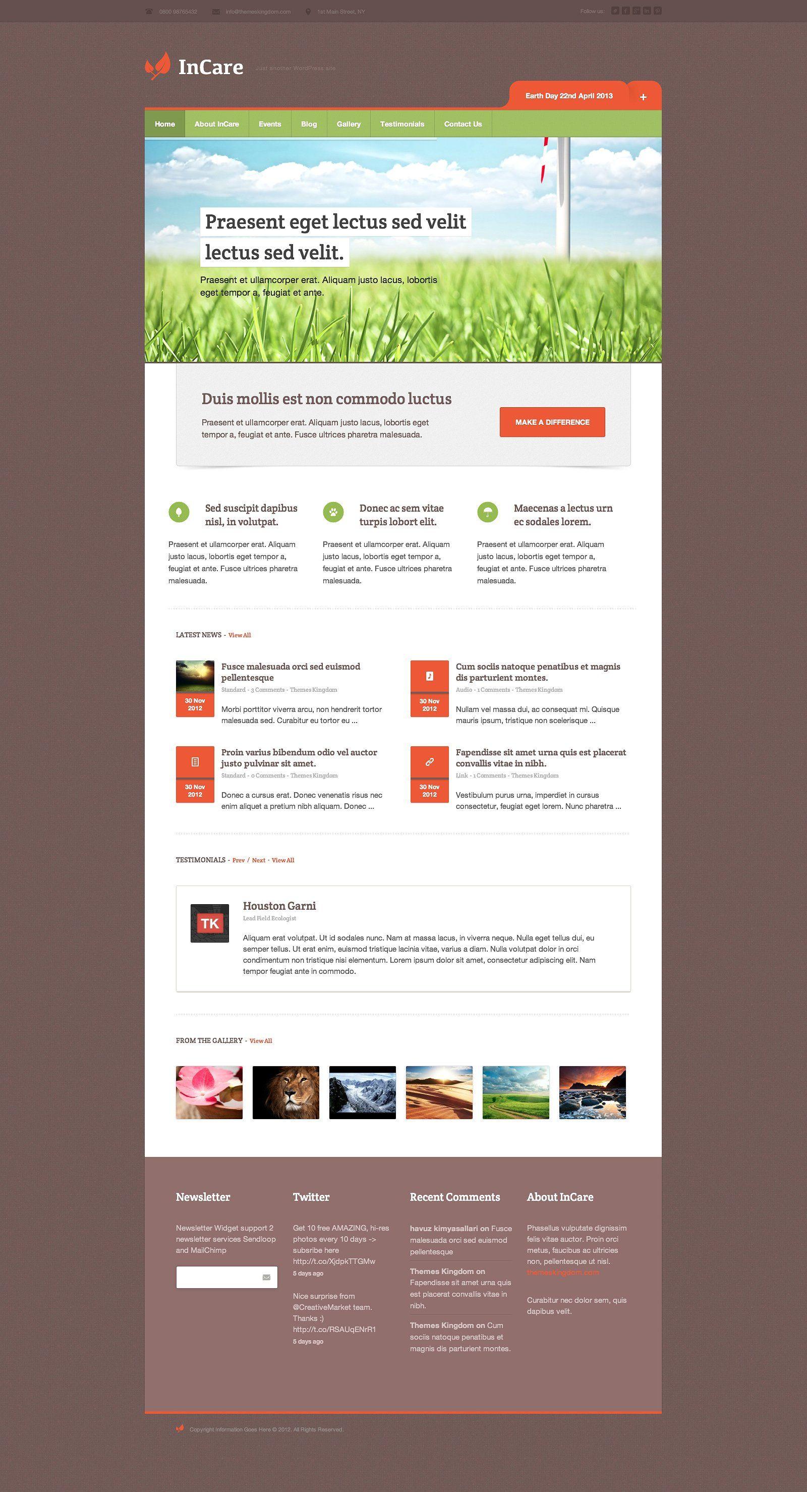 InCare Responsive WordPress Theme FontAwesomeicon