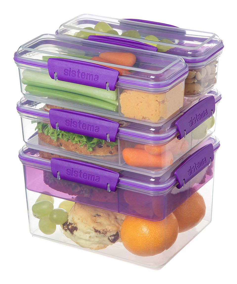 Sistema Purple Snack Attack Stacking Container Set  sc 1 st  Pinterest & Sistema Purple Snack Attack Stacking Container Set | Kitchens ...