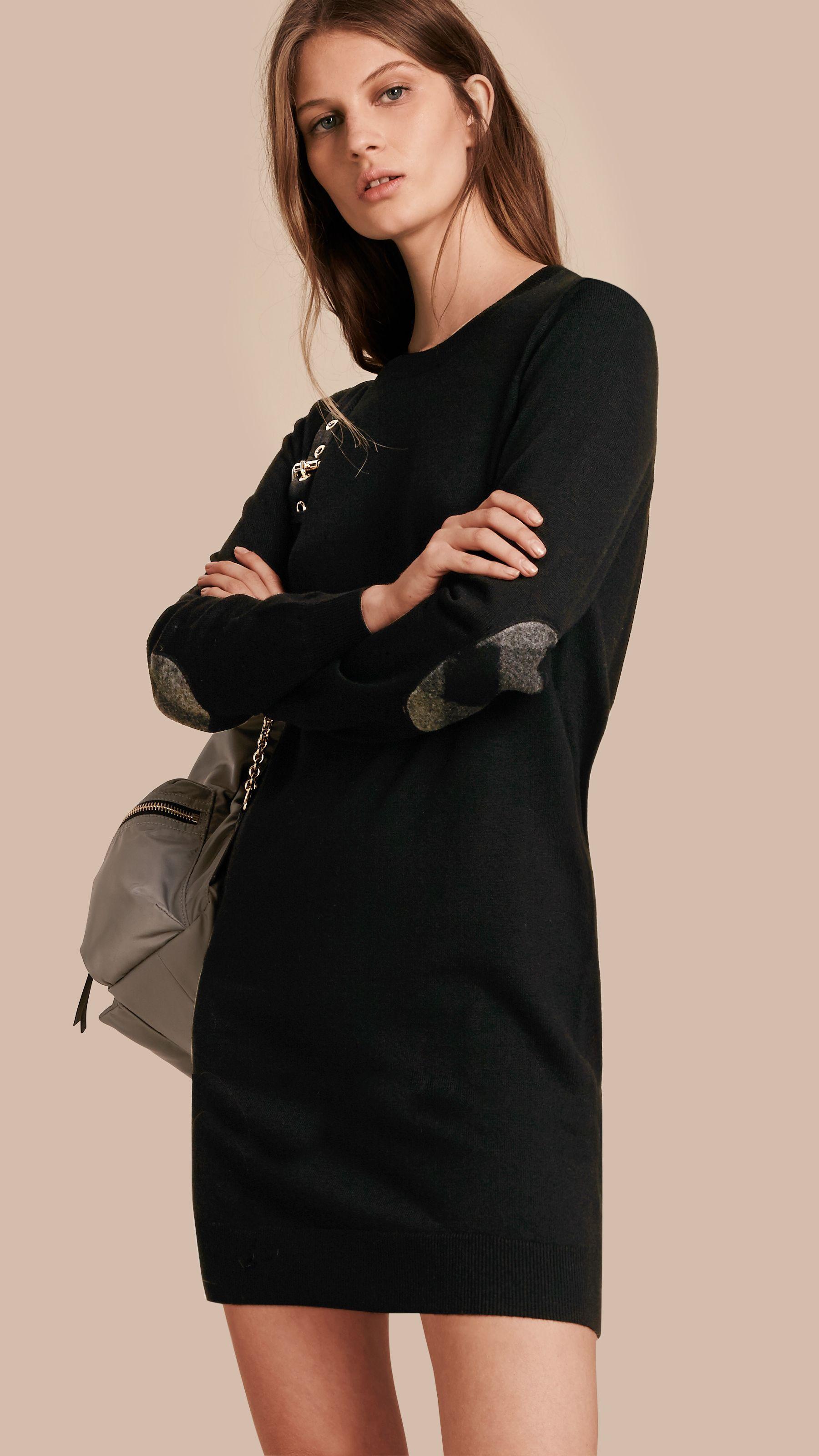 Robe pull laine noir