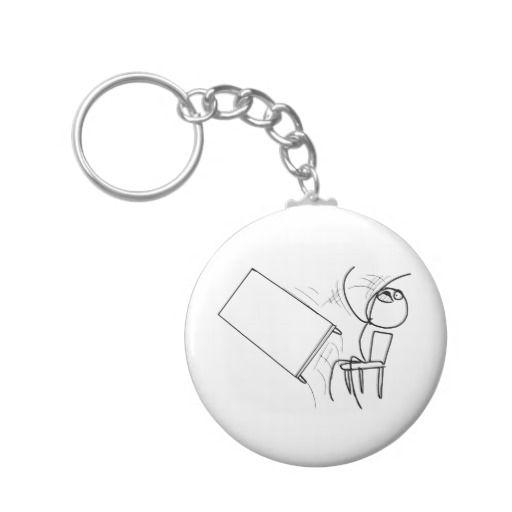 Table Flip Flipping Rage Face Meme Keychain Zazzle Com Rage Faces Keychain Cool Keychains