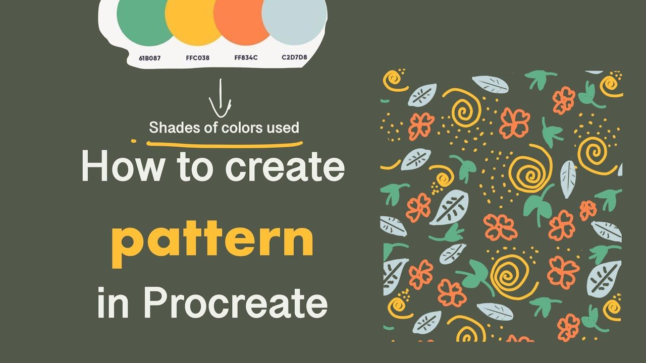 How To Make Patterns In Procreate Repeat Design Pattern